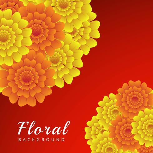 Abstrakt färgrik blommig bakgrund vektor