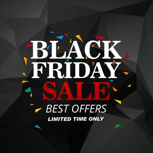Vacker svart fredag försäljning affisch bakgrund