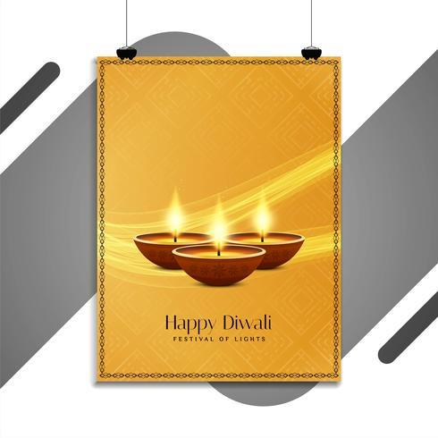 Modello di volantino festival astratto felice di Diwali