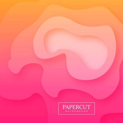 Vector de fondo colorido abstracto papercut