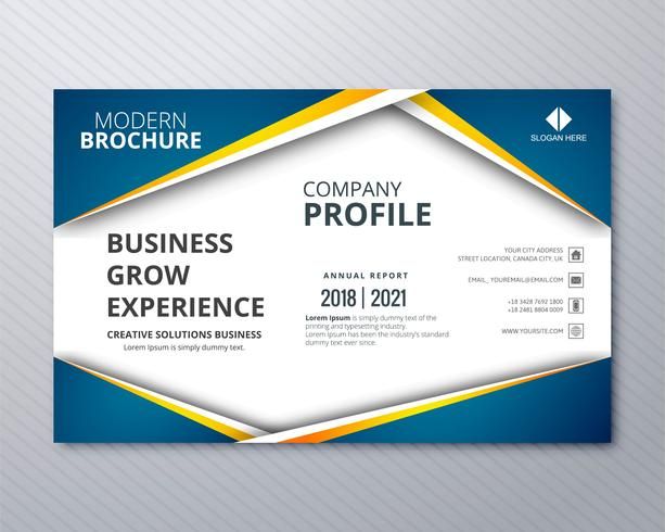 Professional business flyer template card colorful wave design