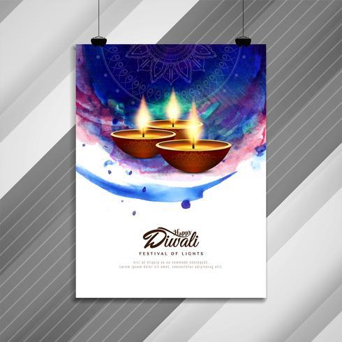 Abstrakt Glad Diwali religiös broschyrdesign