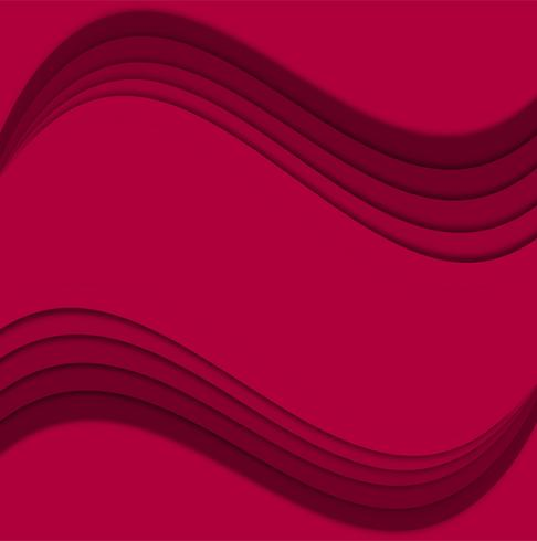 Illustration vectorielle de papercut moderne vague créative