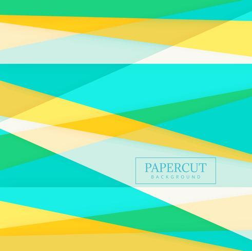 Papercut färgglad form bakgrund vektor