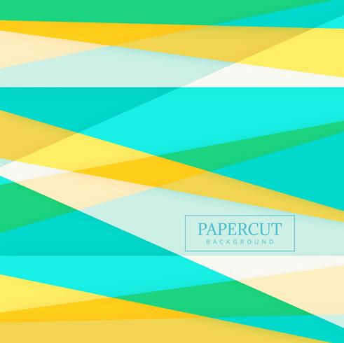 Vetor de fundo de forma colorida Papercut