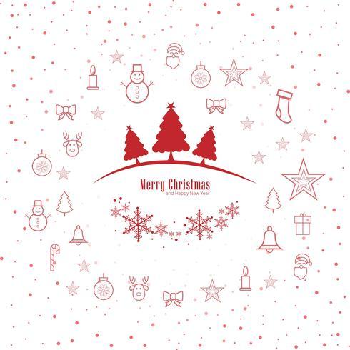 God jul hälsningskort dekorativa bakgrund vektor