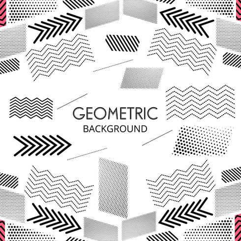 Forma geométrica creativa moderna líneas vectoriales diseño