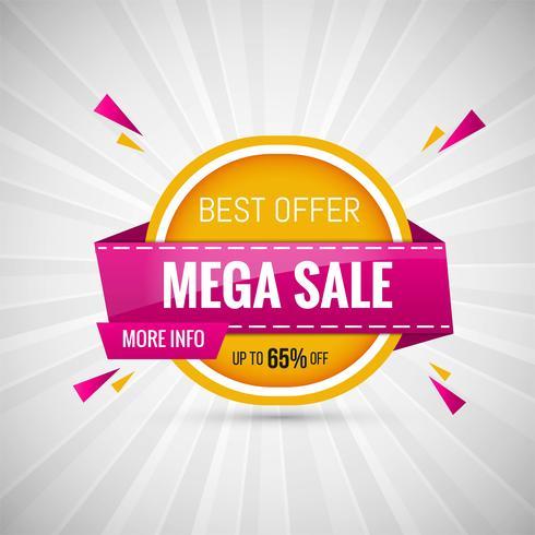 Mega Venda Design Banner ilustração vetorial colorida