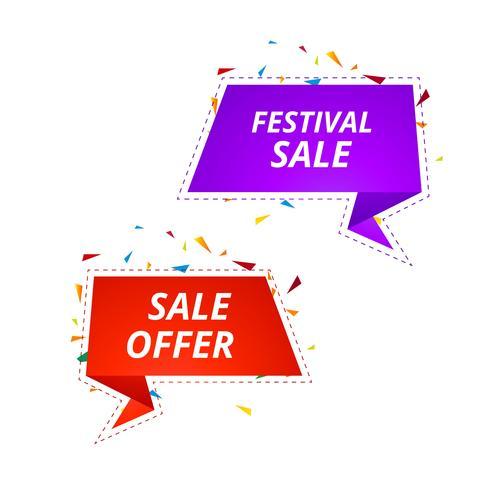 Creative sale banners template design