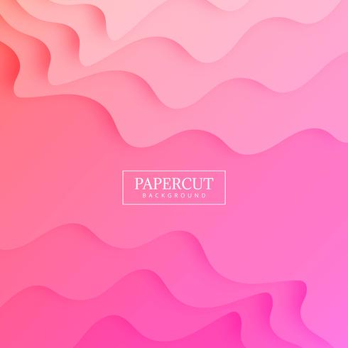 Abstract papercut colorful background illustration vector