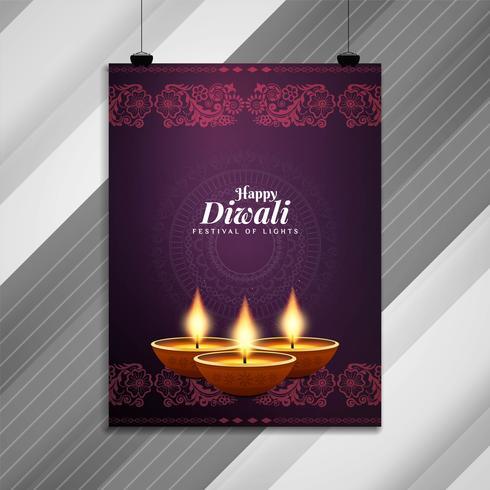 Abstrakt Glad Diwali stilig broschyrmall