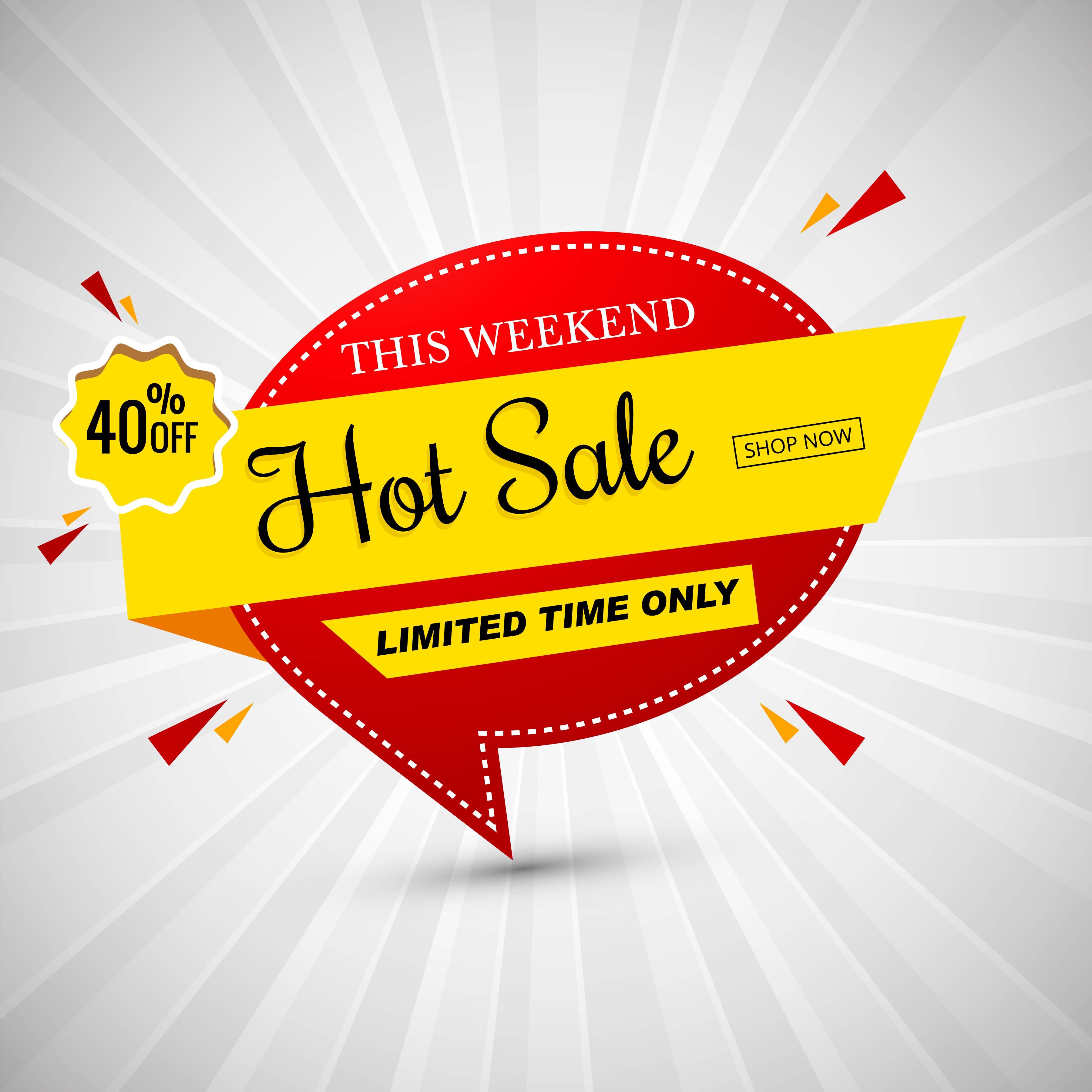 Hot Sale Colorful Banner Vector Illustration