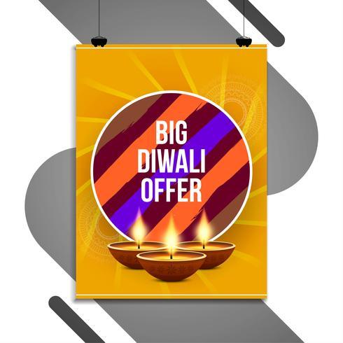 Abstract beautiful Happy Diwali flyer design