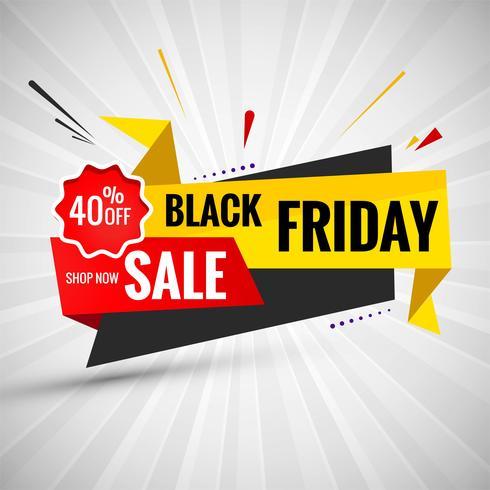 Black Friday vente conception mise en page de bannière