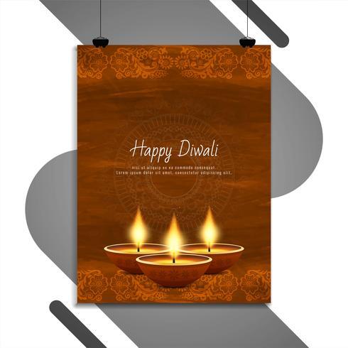 Diseño de plantilla de volante feliz Diwali feliz
