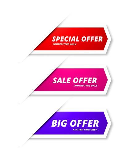 Abstrakt försäljning banners färgstarka mall design