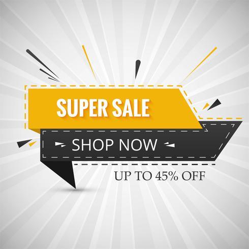 Creative super sale banner for your ribbon design