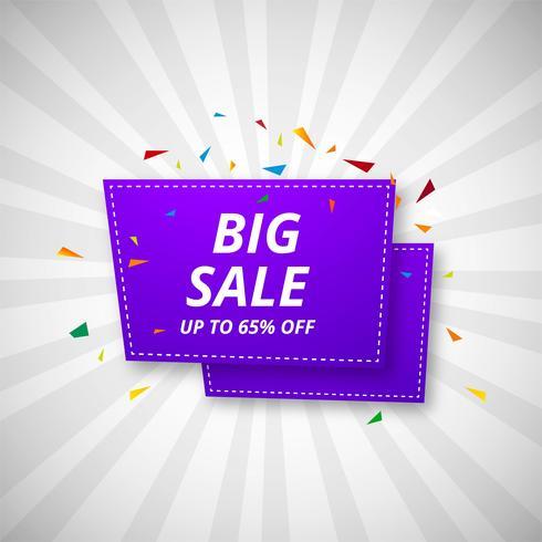 Stora försäljning banners färgstarka vektor design