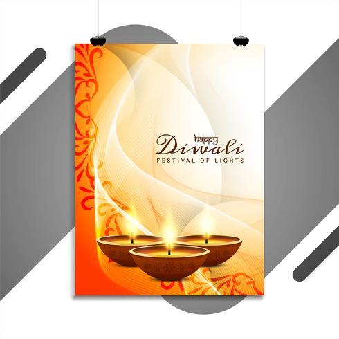 Astratto felice Diwali elegante design volantino religioso