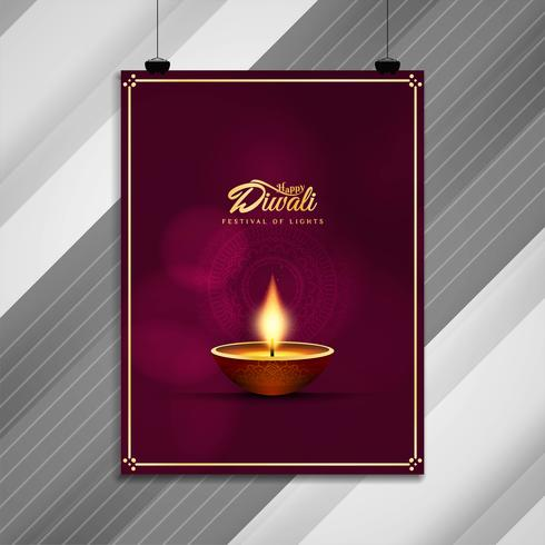 Diseño abstracto hermoso folleto feliz Diwali