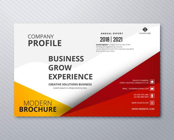 Professional business flyer template card colorful