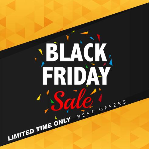 Mooie zwarte de affiche van de vrijdagverkoop illustratie als achtergrond