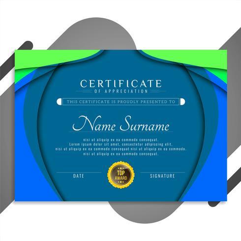 Abstraktes Zertifikatvorlagendesign