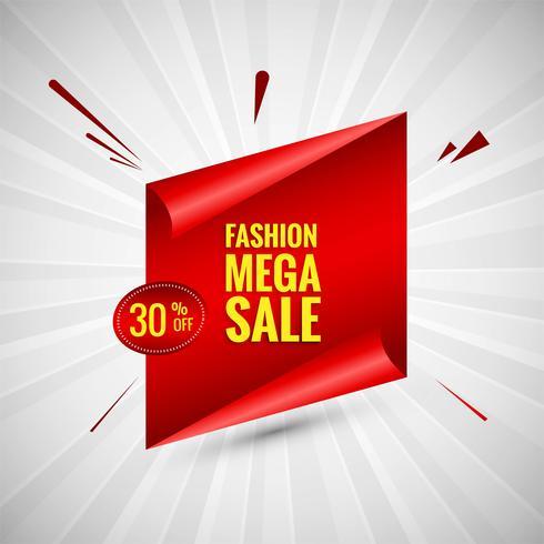 Moda mega venda banner colorido projeto vector