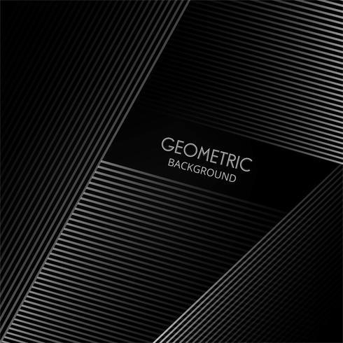 Geometrische Linien elegante Form auf einem schwarzen Hintergrundvektor