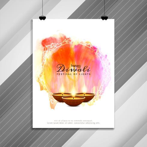 Progettazione astratta dell'opuscolo religioso di Diwali felice