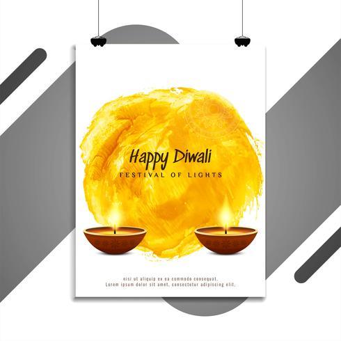 Resumen feliz Diwali elegante diseño de volante religioso