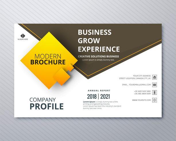 Business professionell broschyr färgstark mall kreativ design