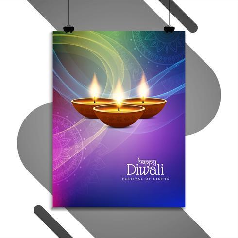 Disegno del modello astratto felice Diwali flyer