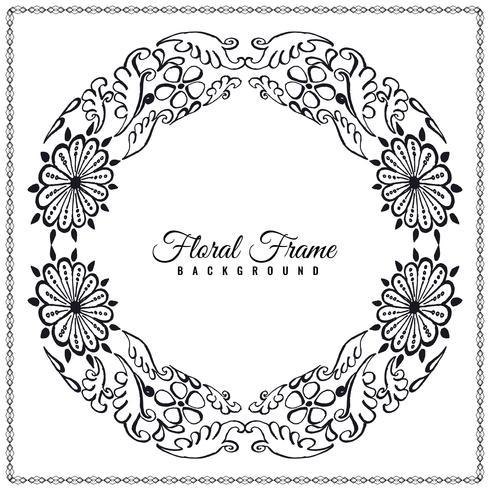 Abstrakt elegant blommig ram bakgrundsdesign