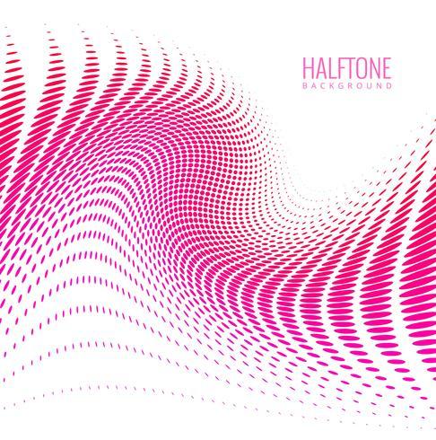 Abstract halftone modieus kleurrijk golfontwerp