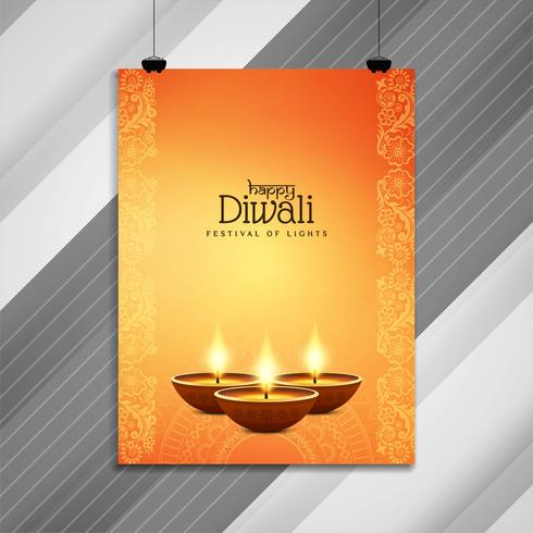 Abstract beautiful Happy Diwali brochure design