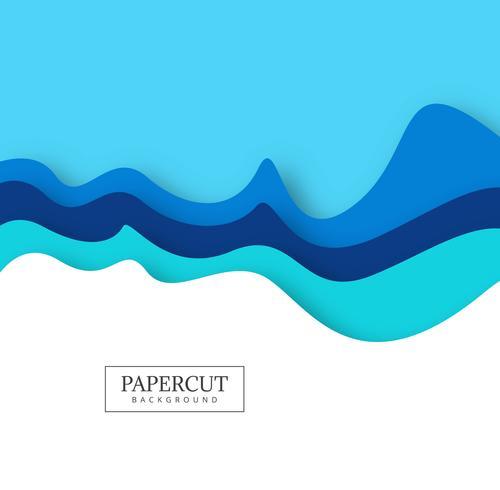 Vecteur de conception vague abstraite papercut coloré créatif