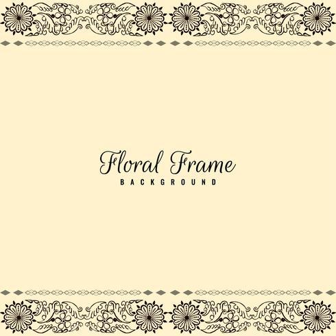 Fondo floral hermoso abstracto del marco