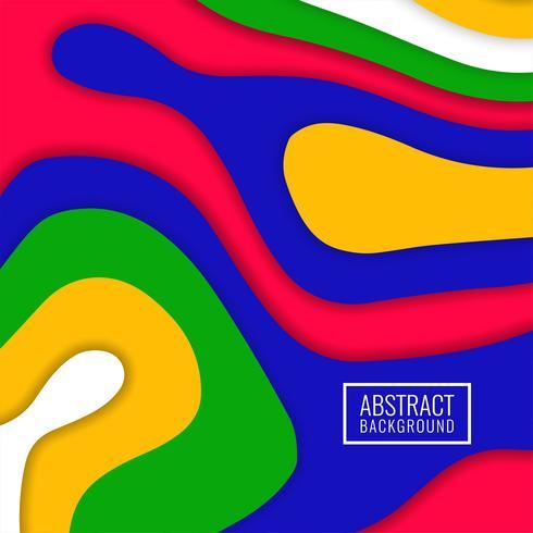 Abstrakt färgglad stilig papercutbakgrund