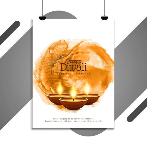 Abstrakte schöne glückliche Diwali-Fliegerschablone