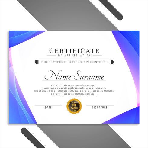 Modelo de certificado abstrato design vetor