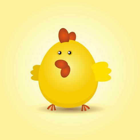 Pollo de pascua vector