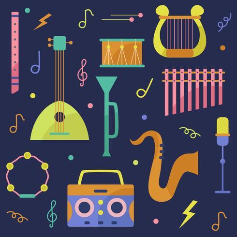 Vector de instrumento musical