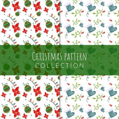 Leuke kerst patroon collectie.