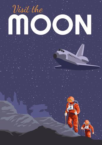 Upplev Moon Travel Poster