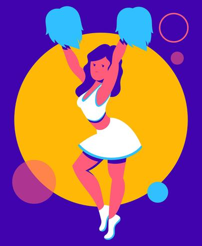 Cheerleader Illustratie