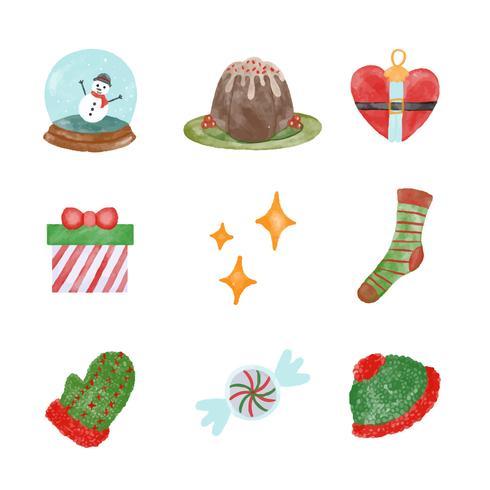 Collection d'éléments de Noël mignonne