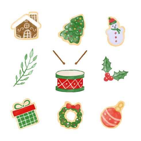 Nette Weihnachtselement-Sammlung
