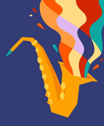 Ilustración de saxofón