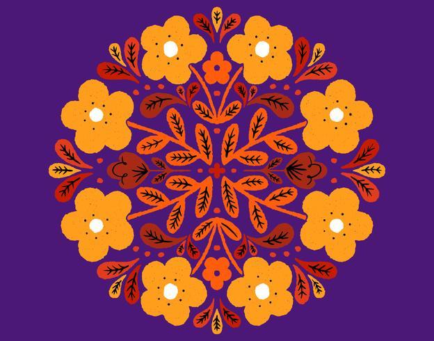 insignia circular floral vector